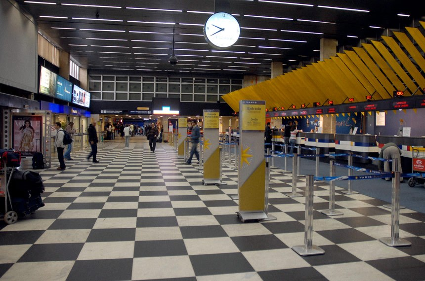 Setor de check-in do Aeroporto de Congonhas.
