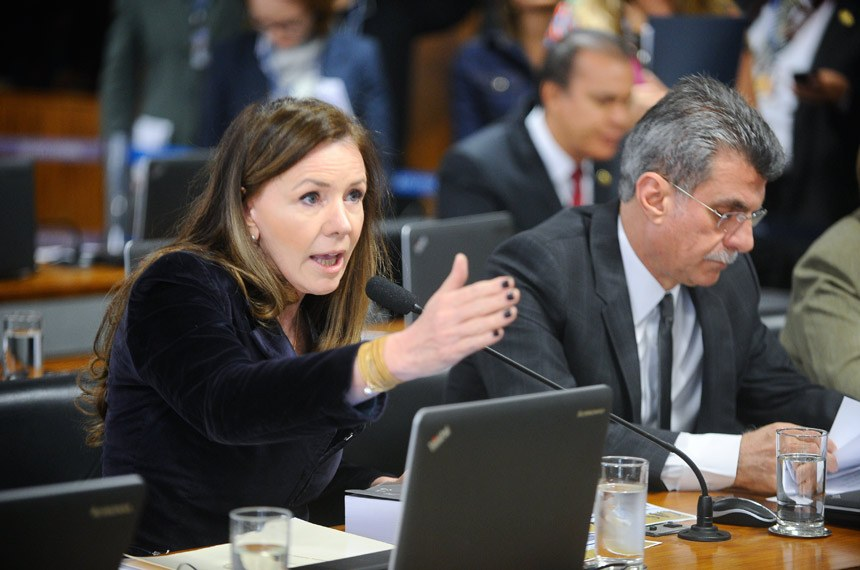 Comissão de Assuntos Sociais (CAS) realiza reunião deliberativa para apreciação do PLC 38/2017, que trata da reforma trabalhista.  Em pronunciamento, senadora Vanessa Grazziotin (PCdoB-AM).  Foto: Marcos Oliveira/ Agência Senado