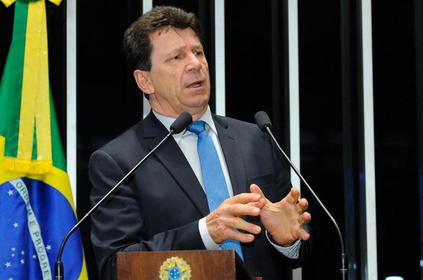 Plenário do Senado durante sessão deliberativa ordinária.Em discurso, senador Ivo Cassol (PP-RO).Foto: Waldemir Barreto/Agência Senado