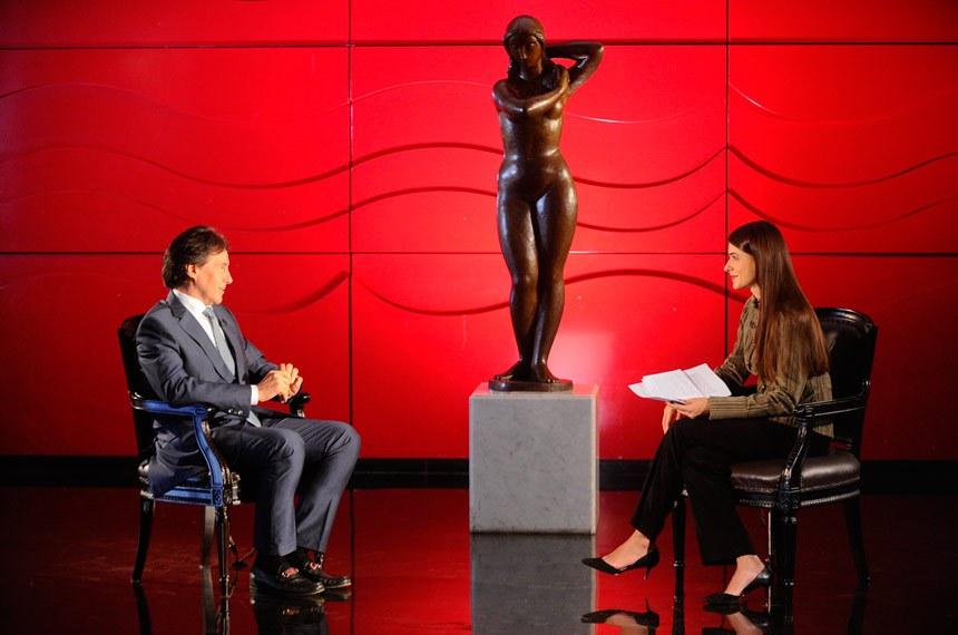 Presidente do Senado Federal, senador Eunício Oliveira (PMDB-CE), concede entrevista à TV Senado.   Foto: Marcos Oliveira/Agência Senado