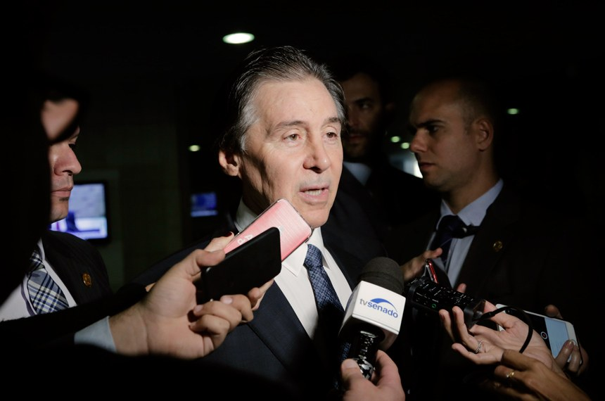 Presidente do Senado Federal, senador Eunício Oliveira (PMDB-CE) concede entrevista.   Foto: Marcos Brandão/Senado Federal