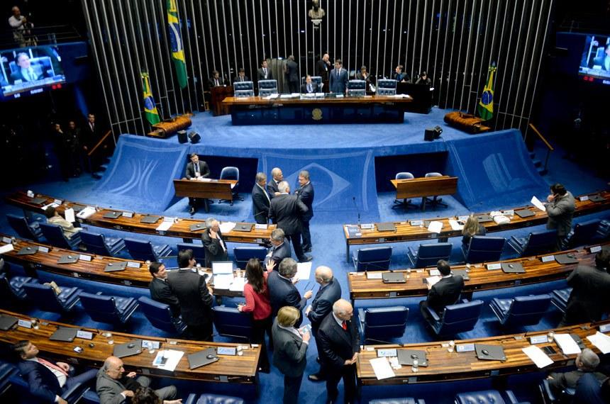 Plenário do Senado durante sessão deliberativa ordinária. Ordem do dia.  À mesa, presidente do Senado, senador Eunício Oliveira (PMDB-CE).  Foto: Jefferson Rudy/Agência Senado