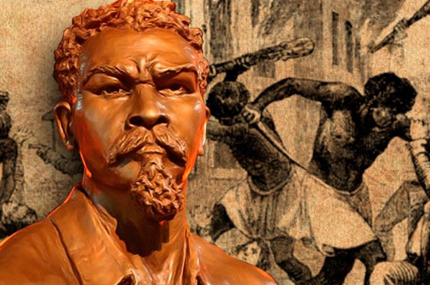 """Busto de Francisco José do Nascimento, líder abolicionista, conhecido como o """"Dragão do Mar"""""""