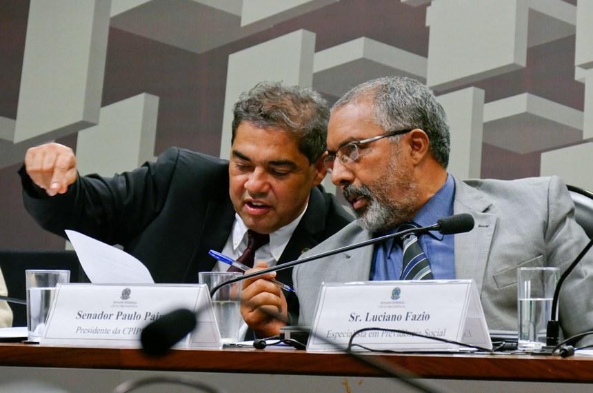 O senador Hélio José (PMDB-DF) é o relator e o senador Paulo Paim (PT-RS) é o presidente da CPI da Previdência
