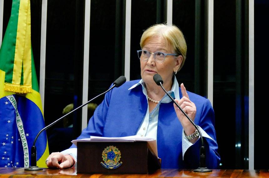 Plenário do Senado durante sessão não deliberativa.  Em discurso, à tribuna, senadora Ana Amélia (PP-RS).  Foto: Roque de Sá/Agência Senado