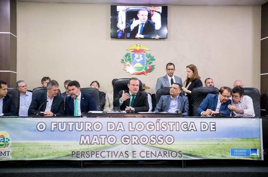 """07.08.2017 Reunião conjunta das comissões CDR e CSF promovem o seminário """"O Futuro da Logística de Mato Grosso: Perspectivas e Cenários"""", em Mato Grosso."""