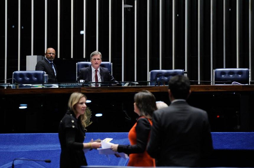 Plenário do Senado durante sessão deliberativa ordinária.  Foto: Edilson Rodrigues/Agência Senado