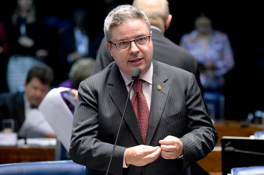 Plenário do Senado Federal durante sessão deliberativa ordinária.   Em pronunciamento, senador Antonio Anastasia (PSDB-MG).   Foto: Jefferson Rudy/Agência Senado
