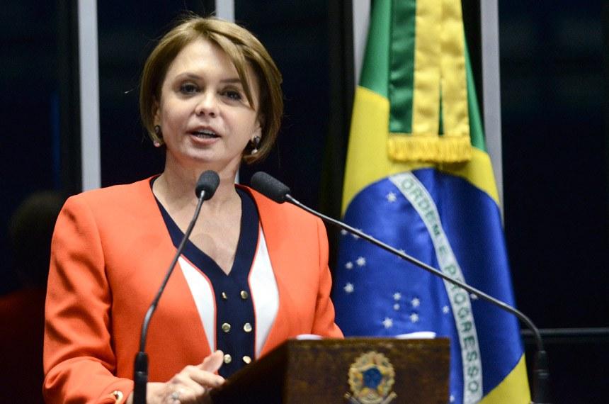 Plenário do Senado Federal durante sessão deliberativa ordinária.   Em discurso, senadora Ângela Portela (PDT-RR).   Foto: Pedro França/Agência Senado