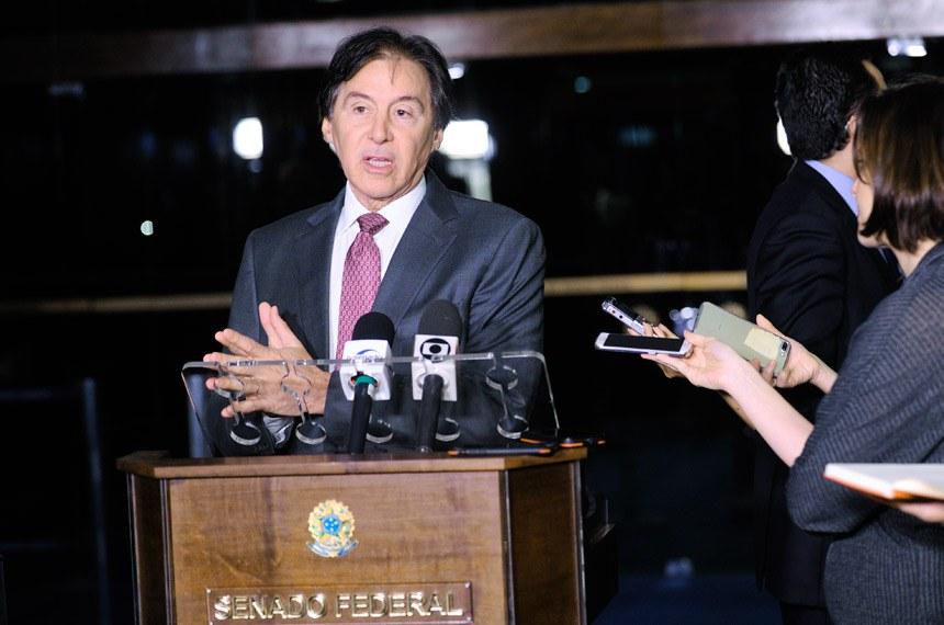 Presidente do Senado, senador Eunício Oliveira (PMDB-CE) concede entrevista.Foto: Marcos Brandão/Senado Federal