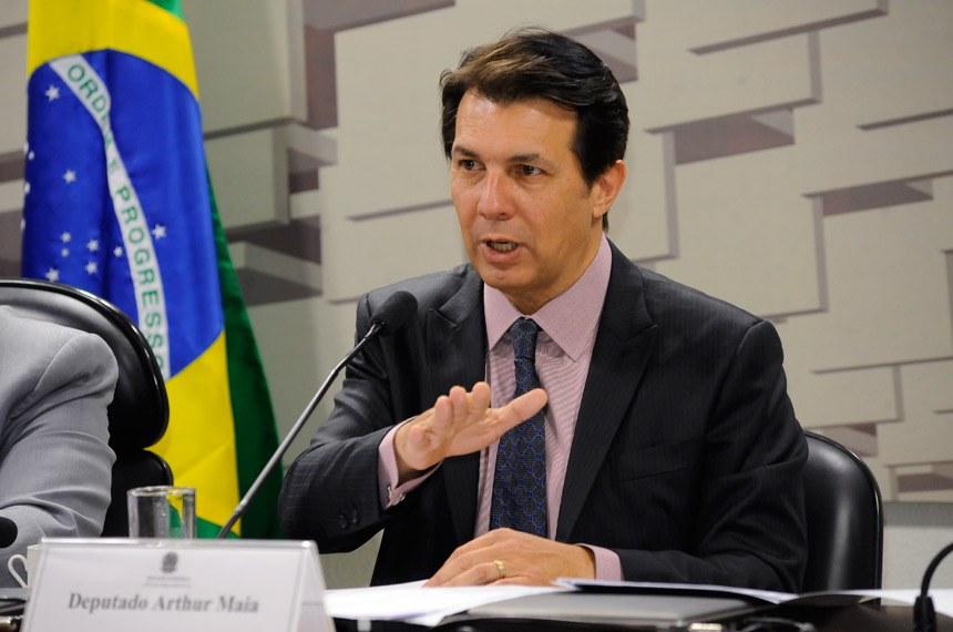 O deputado Arthur Maia, relator da reforma da Previdência na Câmara dos Deputados, participou de audiência pública na CPI da Previdência do Senado
