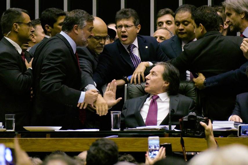 Plenário da Câmara dos Deputados durante sessão conjunta do Congresso Nacional.   À mesa, presidente do Senado Federal, senador Eunício Oliveira (PMDB-CE).  Foto: Roque de Sá/Agência Senado
