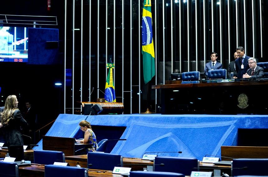 Plenário do Senado Federal durante sessão deliberativa extraordinária.   Foto: Geraldo Magela/Agência Senado