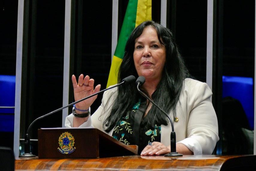 Plenário do Senado Federal durante sessão deliberativa ordinária.   Em discurso, senadora Rose de Freitas (PMDB-ES).  Foto: Roque de Sá/Agência Senado