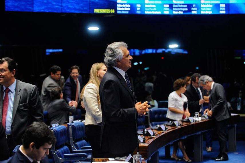Plenário do Senado Federal durante sessão deliberativa ordinária.   Em pronunciamento, senador Ronaldo Caiado (DEM-GO).   Foto: Jonas Pereira/Agência Senado