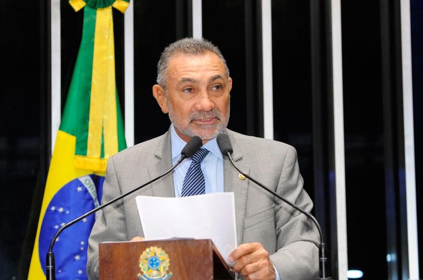 Plenário do Senado durante sessão não deliberativa.  Em discurso, senador Telmário Mota (PTB-RR).  Foto: Waldemir Barreto/Agência Senado