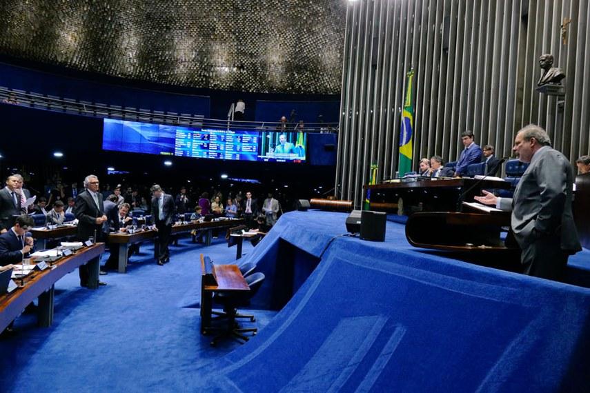 Plenário do Senado Federal durante sessão deliberativa ordinária.   À tribuna em discurso, senador Armando Monteiro (PTB-PE).   Foto: Roque de Sá/Agência Senado