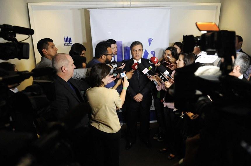 Senador Cássio Cunha Lima (PSDB-PB) concede entrevista.   Foto: Marcos Brandão/Senado Federal