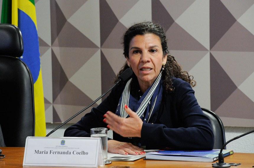 Comissão Parlamentar Mista de Inquérito da JBS (CPMI-JBS) ouve ex-diretora da Caixa Econômica Federal (CEF).  Em pronunciamento, ex-diretora da Caixa Econômica Federal (CEF), Maria Fernanda Ramos Coelho.  Foto: Edilson Rodrigues/Agência Senado
