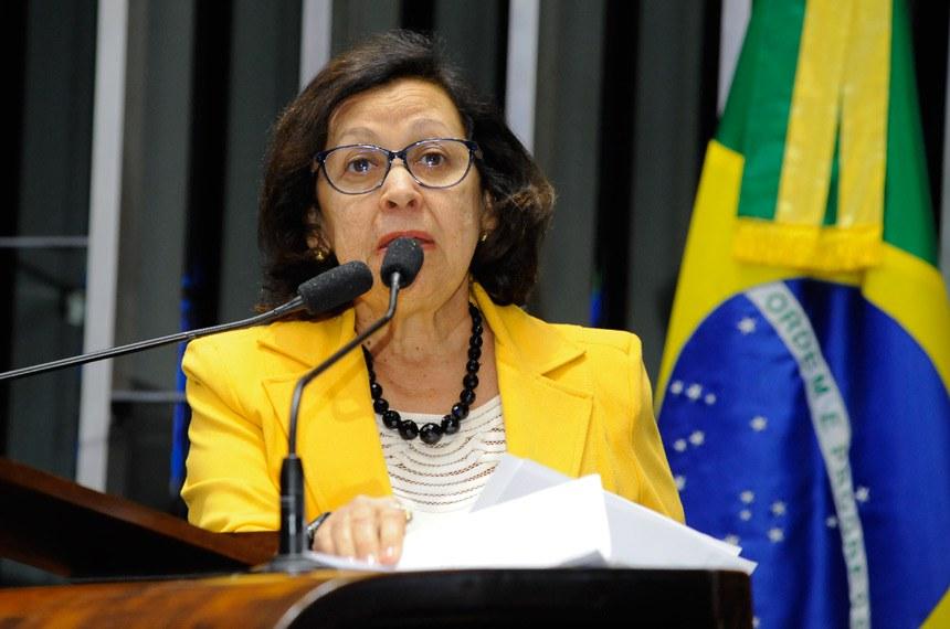 Plenário do Senado durante sessão deliberativa ordinária.  Em discurso, senadora Lídice da Mata (PSB-BA).  Foto: Waldemir Barreto/Agência Senado