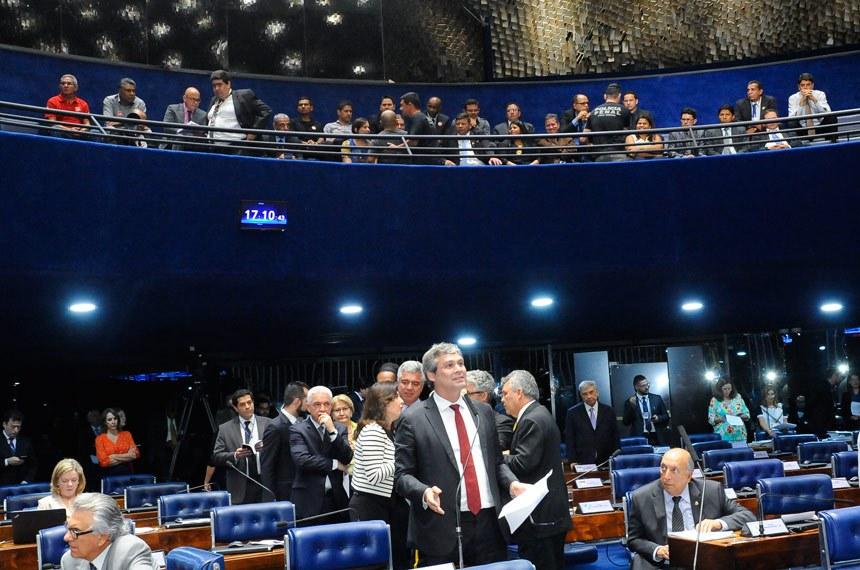 Plenário do Senado durante sessão deliberativa ordinária. Ordem do dia.  Em pronunciamento, senador Lindbergh Farias (PT-RJ).  Foto: Waldemir Barreto/Agência Senado