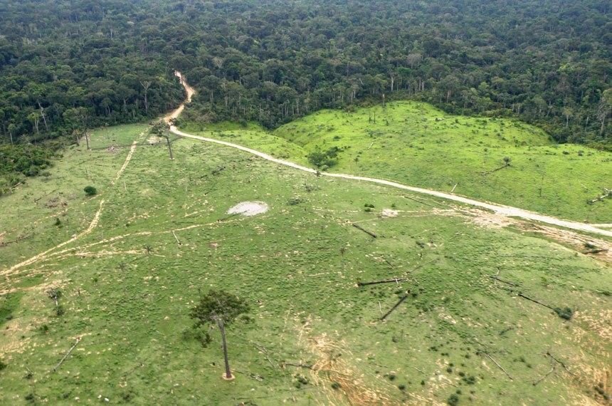 Vista aérea de desmatamento na Amazônia © WWF-Brasil/Bruno Taitson