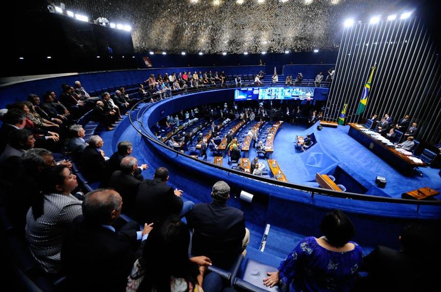 Plenário do Senado durante sessão deliberativa ordinária. Ordem do dia  Geral do plenário.  Foto: Marcos Oliveira/Agência Senado