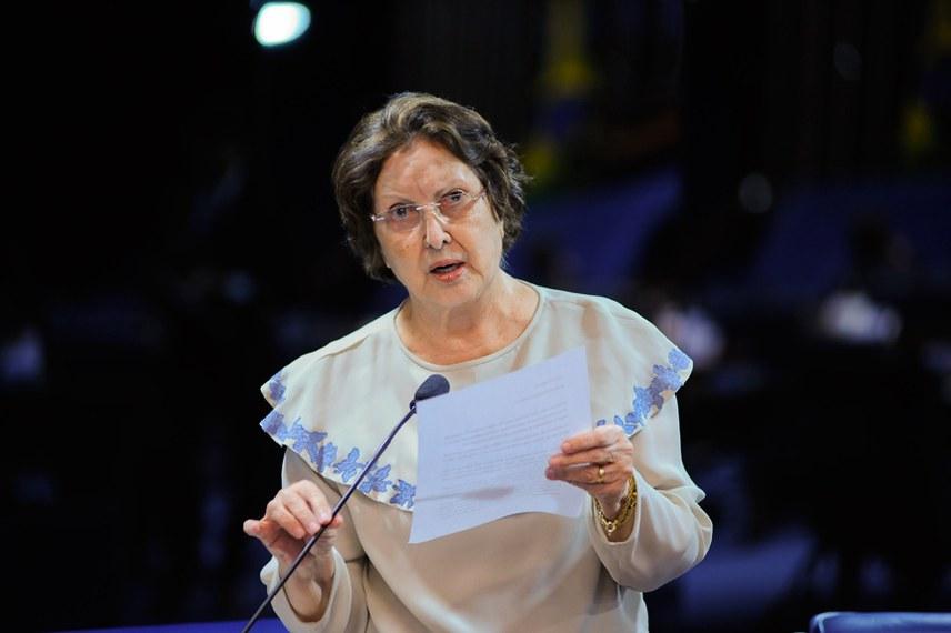 Plenário do Senado durante sessão deliberativa extraordinária.   Em pronunciamento, senadora Maria do Carmo (DEM-SE).  Foto:  Pedro França/Agência Senado