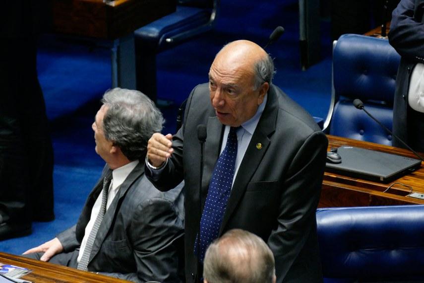 Plenário do Senado Federal durante sessão deliberativa ordinária.   Em pronunciamento, senador Pedro Chaves (PSC-MS).  Foto: Roque de Sá/Agência Senado