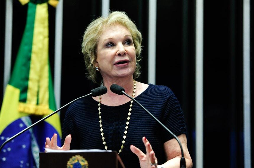 Plenário do Senado Federal durante sessão deliberativa ordinária.   Em discurso, senadora Marta Suplicy (PMDB-SP).   Foto: Moreira Mariz/Agência Senado