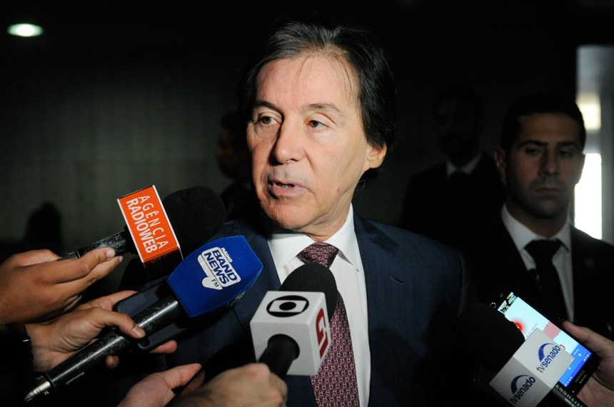Presidente do Senado Federal, senador Eunício Oliveira (PMDB-CE), concede entrevista.  Foto: Marcos Brandão/Senado Federal