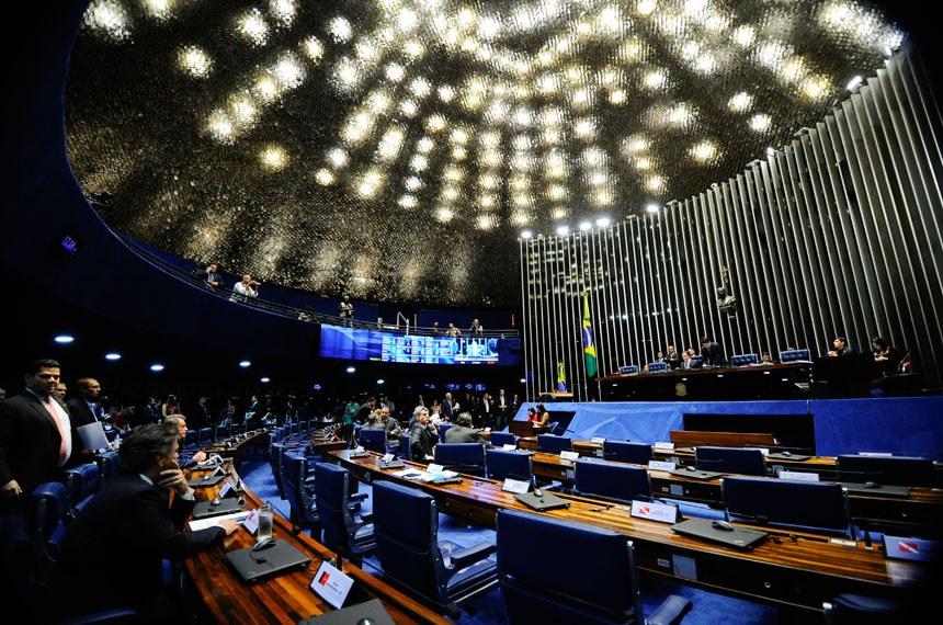 Plenário do Senado durante sessão deliberativa ordinária. Ordem do dia.  À mesa, presidente do Senado Federal senador Eunício Oliveira (PMDB-CE).  Foto: Marcos Oliveira/Agência Senado
