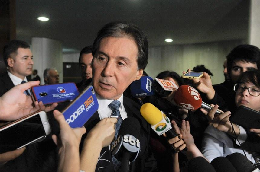 Presidente do Senado Federal senador Eunício Oliveira (PMDB-CE) concede entrevista.   Foto: Jonas Pereira/Agência Senado