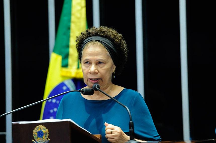 Plenário do Senado Federal durante sessão deliberativa extraordinária.   Em discurso, senadora Regina Sousa (PT-PI).  Foto: Geraldo Magela/Agência Senado