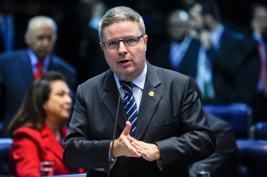 Plenário do Senado durante sessão deliberativa ordinária.Em pronunciamento, senador Antonio Anastasia (PSDB-MG).Foto: Marcos Oliveira/Agência Senado