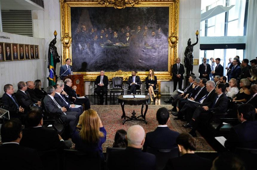 Solenidade de posse dos novos membros do Conselho de Comunicação Social (CCS) do Congresso Nacional, nesta quarta-feira (8), no Salão Nobre do Senado