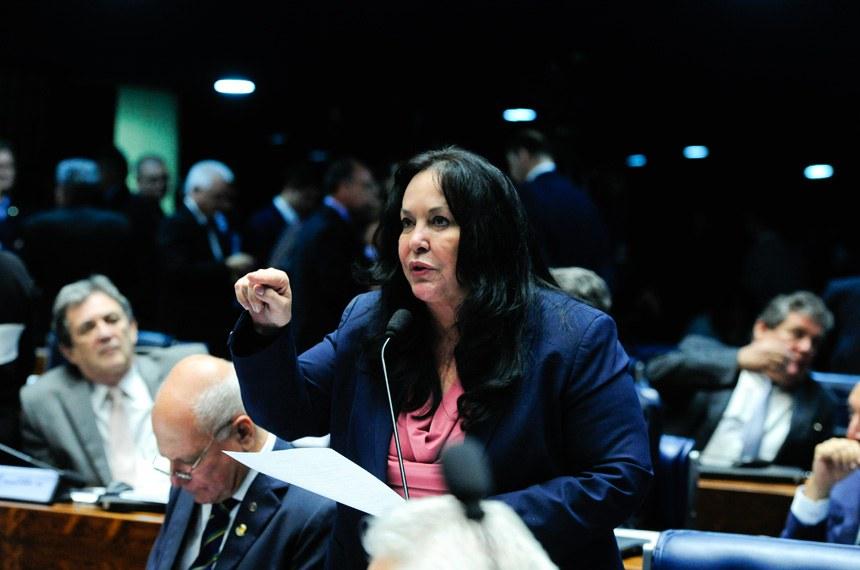 Plenário do Senado durante sessão deliberativa ordinária. Ordem do dia.  Em pronunciamento, senadora Rose de Freitas (PMDB-ES).  Foto: Moreira Mariz/Agência Senado