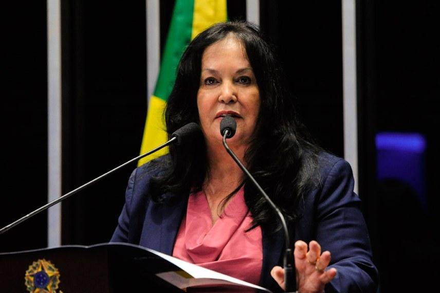 Plenário do Senado durante sessão deliberativa ordinária.  Em discurso, senadora Rose de Freitas (PMDB-ES).  Foto: Geraldo Magela/Agência Senado