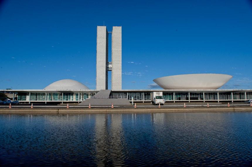 Fachada do prédio do Congresso Nacional na Esplanada dos Ministérios.  Foto: Edilson Rodrigues/Agência Senado
