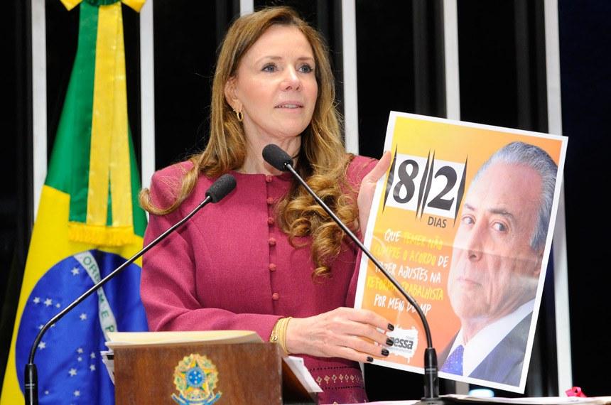 Plenário do Senado Federal durante sessão deliberativa ordinária.   Em discurso, senadora Vanessa Grazziotin (PCdoB-AM).   Foto: Waldemir Barreto/Agência Senado