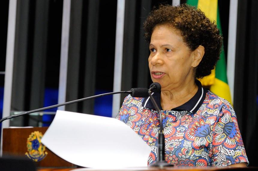 Plenário do Senado durante sessão não deliberativa.  Em discurso, senadora Regina Sousa (PT-PI).  Foto: Waldemir Barreto/Agência Senado