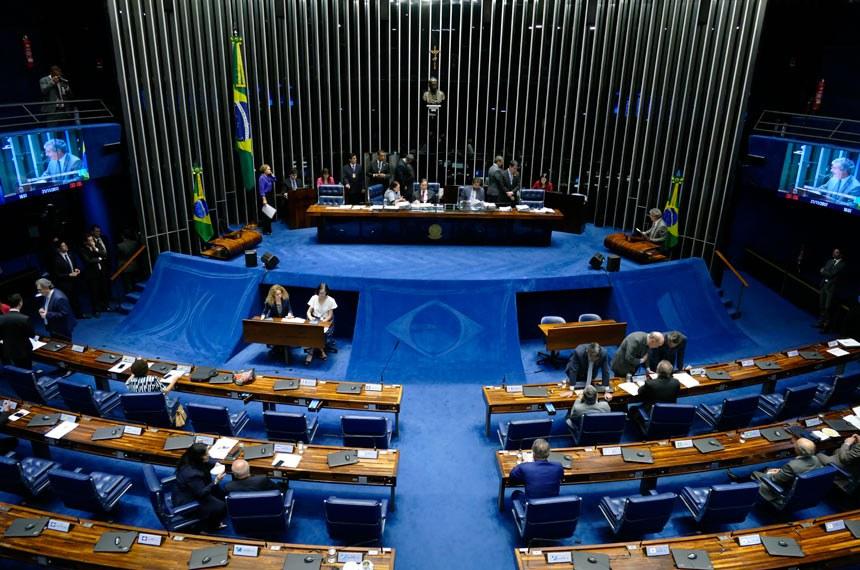 Plenário do Senado Federal durante sessão deliberativa ordinária. Ordem do dia.   Mesa: senadora Fátima Bezerra (PT-RN);  senadora Ângela Portela (PDT-RR); presidente do Senado, senador Eunício Oliveira (PMDB-CE); senador Valdir Raupp (PMDB-RO).  Em discurso, à tribuna,  senador Jorge Viana (PT-AC).  Foto: Roque de Sá/Agência Senado
