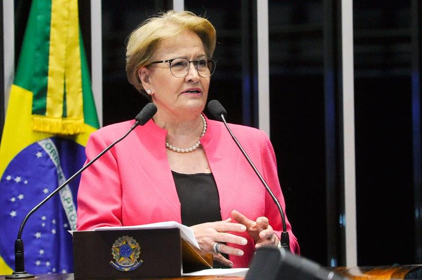 Plenário do Senado durante sessão deliberativa ordinária.  Em discurso, à tribuna, senadora Ana Amélia (PP-RS).  Foto: Geraldo Magela/Agência Senado