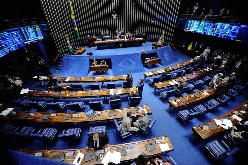 Plenário do Senado durante sessão deliberativa ordinária. Ordem do dia.  À mesa, presidente do Senado, senador Eunício Oliveira (PMDB-CE).  Foto: Marcos Oliveira/Agência Senado