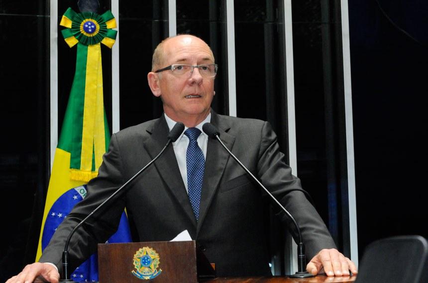 Plenário do Senado Federal durante sessão deliberativa ordinária.   Em discurso, senador Paulo Bauer (PSDB-SC).  Foto: Waldemir Barreto/Agência Senado