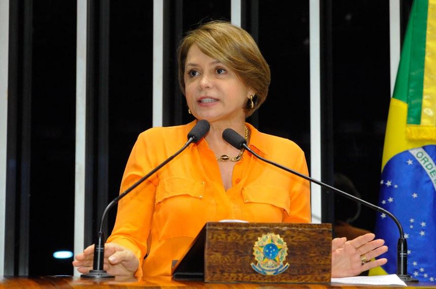 Plenário do Senado durante sessão deliberativa ordinária.  Em discurso, senadora Ângela Portela (PDT-RR).  Foto: Waldemir Barreto/Agência Senado