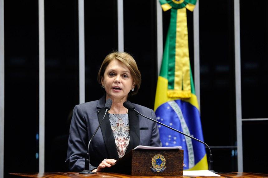 Plenário do Senado Federal durante sessão deliberativa extraordinária.   Em discurso, senadora Ângela Portela (PDT-RR).  Foto: Marcos Oliveira/Agência Senado