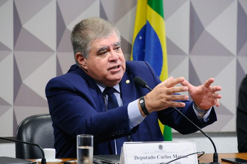 Comissão Parlamentar Mista de Inquérito da JBS (CPMI-JBS) realiza reunião para apresentação e apreciação do relatório final.Em pronunciamento, relator-geral da CPMI-JBS, deputado Carlos Marun (PMDB-MS).Foto: Marcos Oliveira/Agência Senado