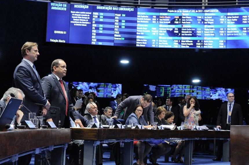 Plenário do Senado Federal durante sessão deliberativa extraordinária.   Particpam: senador Vicentinho Alves (PR-TO); senador Acir Gurgacz (PDT-RO).  Foto: Edilson Rodrigues/Agência Senado