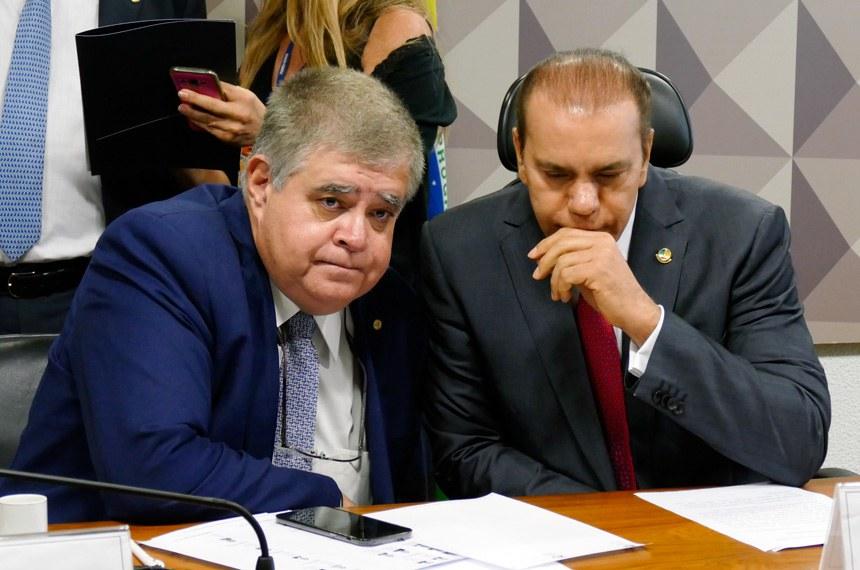 Comissão Parlamentar Mista de Inquérito (CPMI) da JBS realiza reunião para apresentação do relatório.  (E/D): relator-geral da CPMI-JBS, deputado Carlos Marun (PMDB-MS); presidente da CPMI-JBS, senador Ataídes Oliveira (PSDB-TO).  Foto: Roque de Sá/Agência Senado